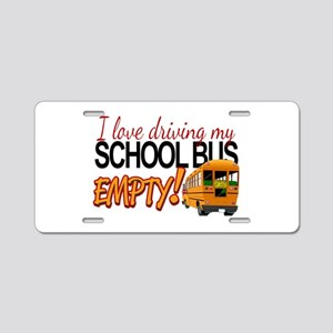 Bus Driver - Empty Bus Aluminum License Plate